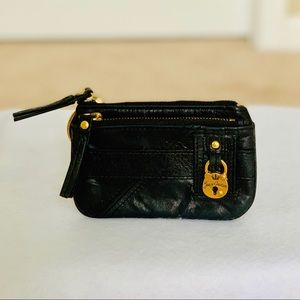 Juicy Couture Black Coin Purse with Lock
